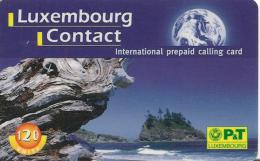 -CARTE-PREPAYEE-LUXEMBOURG-CONTACT-120U-31/12/99-TBE - Luxembourg
