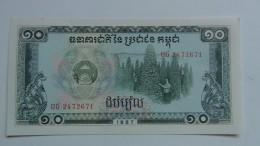Billete Camboya. 10 Riels. 1987. Sin Circular - Cambodia
