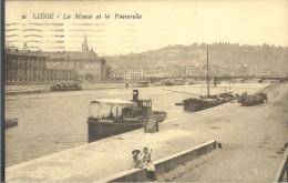 ! - Belgique - Liège - La Meuse Et La Passerelle - Liege