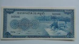 Billete Camboya. 100 Riels. 1957. Sin Circular. - Cambodia