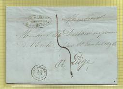 Courrier D'un Libraire De Saint-Léger (T.18) Vers Imprimerie Dessain à Liège  (1846) - 1830-1849 (Belgica Independiente)