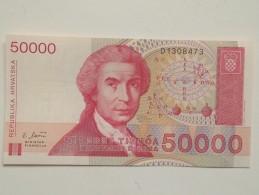Billete Croacia. 50.000 Dinares. 1993. Sin Circular - Croacia
