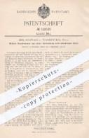 Original Patent - Emil Schwarz , Frankenthal , 1900 , Durch Druckwasser Aus Einer Versenkung Sich Erhebender Stuhl !!! - Historische Dokumente