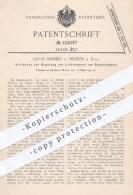 Original Patent - Hugo Bremer , Neheim / Ruhr , 1900 , Regelung Vom Lichtbogen An Bogenlampen | Lampen , Licht !!! - Historische Dokumente
