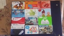 Colleting-euro Card-(set 35)-(12cards)+4card Prepiad Free - Télécartes