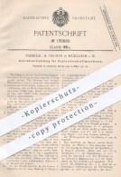 Original Patent - Fanselau & Fischer , Mühlheim / Main , 1901 , Andrehvorrichtung Für Explosionskraftmaschinen   Motor - Historische Dokumente