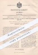 Original Patent - Christian Kjaersgaard , Aarhus , Dänemark , 1901 , Löschen Von Dochtlampen Durch Flüssigkeit | Brenner - Historische Dokumente