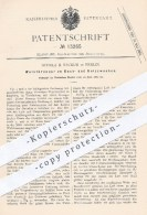 Original Patent - Schulz & Sackur , Berlin , 1880 , Wulstbrenner Zum Kochen U. Heizen | Brenner , Gas , Heizung , Koch ! - Historische Dokumente