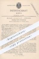 Original Patent - Michael Lochmüller , München , 1886 , Zweiseitiges Schloss Mit Hohlschlüssel | Schlösser , Schlosser ! - Historische Dokumente