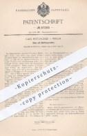 Original Patent - Carl Mätzschke , Berlin , 1895 , Hahn Mit Dichtungsnuthen | Nuth , Nut , Nuten , Dichtung , Glas !!! - Historische Dokumente