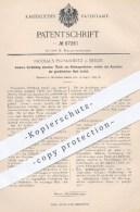Original Patent - Nicolaus Pluskiewitz , Berlin , 1895 , Lösbare Verbindung Einzelner Teile Von Kleidung   Bekleidung !! - Historische Dokumente