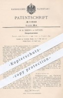 Original Patent - H. H. Dikema , Brüssel , 1900 , Flüssigkeitszerstäuber | Zerstäuber , Flüssigkeiten , Feder , Federn - Historische Dokumente