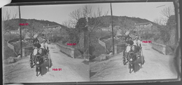 Photographie - Plaque De Verre - Scene Rurale, Promenade Cariole Tirée Par Un Ane (B 513-1, Lot 5) - Diapositiva Su Vetro
