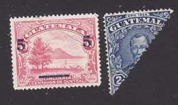 Guatemala. Scott #299-300, Used, Lake Amatitlan Surcharged, Barrios, Issued 1940 - Guatemala
