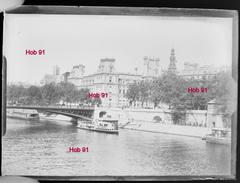 Photographie - Plaque De Verre - Paris, Bords De Seine En 1900 (B 513-1, Lot 6) - Glasdias