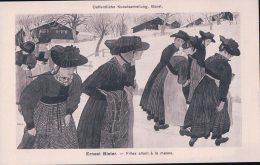 Ernest Bieler, Filles Allant à La Messe (790) - Illustrateurs & Photographes