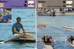 Lot 10 Fiches Aviron  (Editions Rencontre Fin Des Années 70) - Postkaarten
