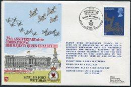 1978 GB Royal Air Force Cover C57 RAF WATTISHAM Coronation Flight - 1952-.... (Elizabeth II)