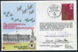 1978 GB Royal Air Force Cover C57 RAF WATTISHAM Coronation Flight SIGNED - 1952-.... (Elizabeth II)