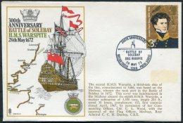 1972 GB Royal Navy Battle Of Solebay, HMS Warspite RNSC2 BFPS Ship Cover - 1952-.... (Elizabeth II)