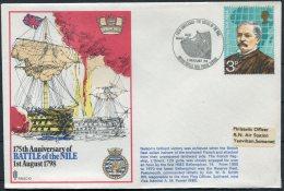 1973 GB Royal Navy RNSC10 BFPS 'Battle Of The Nile' HMS BELLEROPHON Ship Cover - 1952-.... (Elizabeth II)