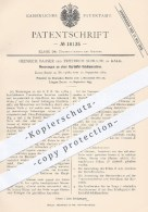 Original Patent - Heinrich Baaser U. Friedrich Schulte , Kalk , 1881 , Kartoffel - Schälmaschine | Kartoffeln , Messer ! - Historische Dokumente