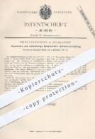 Original Patent - Fritz Holtschmit In Düsseldorf , 1881 , Dampfzylinder - Schmiervorrichtung   Dampfmaschinen , Motoren - Historische Dokumente