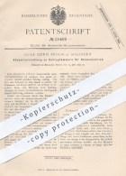 Original Patent - G. H. Broch , Solingen , 1882 , Steuervorrichtung Am Schlaghammer Für Riemenbetrieb   Hammer , Metall - Historische Dokumente