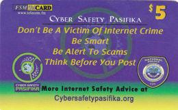 MICRONESIA - Remote Memory 5$ Card, Cyber Safety Pasifika, 2012, Used - Micronesië