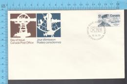Canada - 1977    Scott # 738, Famous Canadien, Joseph E. Palmer Canada Artic - FDC PPJ , Fancy Cancelation - Navires & Brise-glace