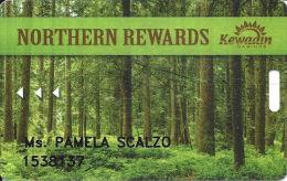 Kewadin Casino - Various Locations In Michigan USA - Northern Rewards Slot Card - Casino Cards