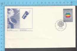 Canada - 1982 Scott #976 ,UN World Communication Year, Globes - FDC PPJ , Fancy Cancelation - ONU