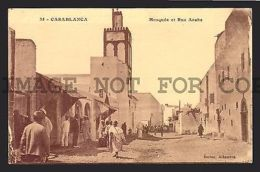 Mosque CASABLANCA  MAROC MOROCCO  Islamic Postcard RARE VINTAGE ORIGINAL CA1900 - Unclassified