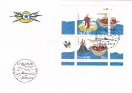 Iceland FDC 1994 Europa CEPT Souvenir Sheet (G64-75) - 1994