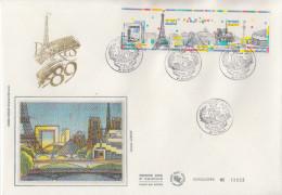 Enveloppe  FDC   1er  Jour   Grand  Format  Bande   PARIS   1989 - FDC