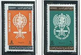 (cl.35 - P.57) Yemen * N° 125/126 - Eradication Du Paludisme - Yemen