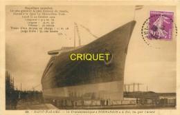 44 St Nazaire, Le Transatlantique Normandie à Flot Vu Par L'avant, Carte Pas Courante Affranchie 1932 - Saint Nazaire