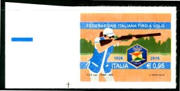 ITALIA / ITALY 2016** - Federazione Italiana Tiro A Volo - 1 Val. Autoadesivo Come Da Scansione - Tiro (armi)