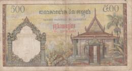 Cambodge - Billet De 500 Riels - Non Daté - P14b (1965) - Cambodja