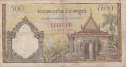 Cambodge - Billet De 500 Riels - Non Daté - P14b (1965) - Cambogia