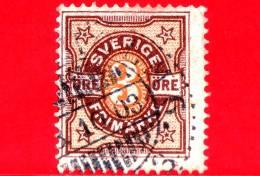SVEZIA - Sverige - Usato - 1892 - Tipo Numeri Bicolore - 3 - Oblitérés