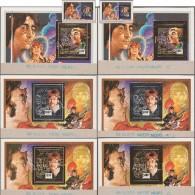 Burkina Faso 1995 Michel Bl 163/6, A-B. 8 Blocs Différents Annulés Sur Cartons. Chanteurs : Les Beatles. John Lennon,... - Musique
