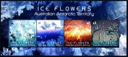 A.A.T. AUSTRALIAN ANTARCTIC TERRITORY 2016 Ice Flowers Minisheet  [MNH] - Unused Stamps