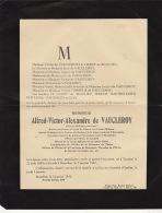 Faire Part De Decès De Vaucleroy Le Hardy De Beaulieu Médecin Militaire - Obituary Notices