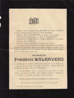 Faire Part De Decès De Frederic Walravens 1899 - Obituary Notices