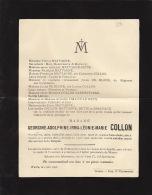 Faire Part De Decès De Georgine Collon Famille Mattagne Bette De Block Vandevyvere - Obituary Notices