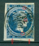 Greece Large Hermes Head 20 L. 1871 - 1872 Hellas 35 Pos 148 - 1861-86 Grande Hermes