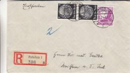 Allemagne - Empire - Lettre Recommandée De 1934 - Oblitération Potsdam 1 - Oisaeux - Storia Postale