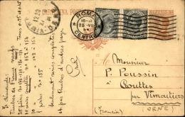 ITALIE - Entier Postal + Complément De Rome Pour La France En 1924 - A Voir - L 5014 - 1900-44 Vittorio Emanuele III