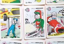 ANCIEN JEU DE CARTES A JOUER SEPT 7 FAMILLES CIRQUE RESTAURANT AVIATION JARDINAGE MECANIQUE CITROEN ID MUSICIEN POISSON - Jeux De Société